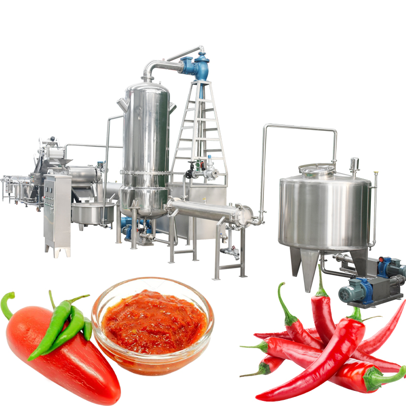 Factory Chilli Sauce Processing Production Making Line