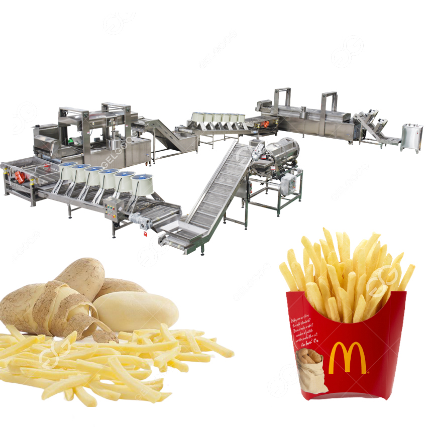 Fully Automatic Potato French Fries Production Processing Line For Sale