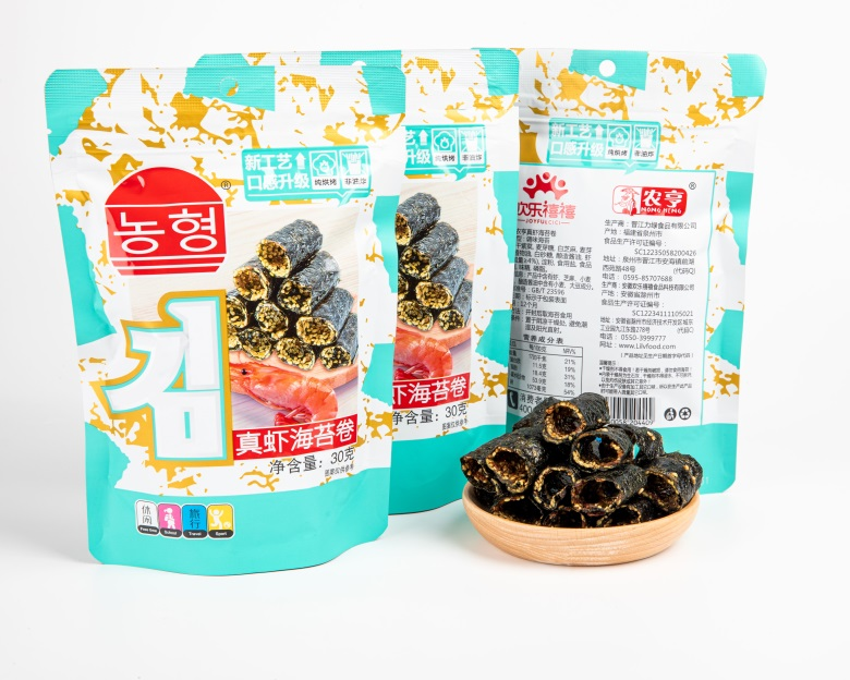 32g Shrimp Topping Seaweed Snacks Foods with Hahal