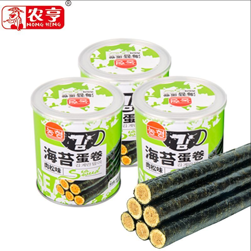 80g canned instant egg roll snack with meat floss