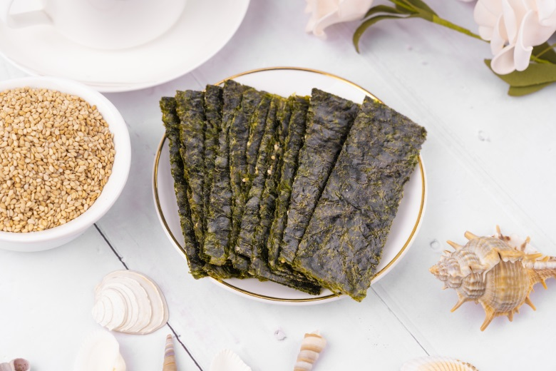 12g Instant Sesame Yummy Topping Seaweed Snack with Health Report