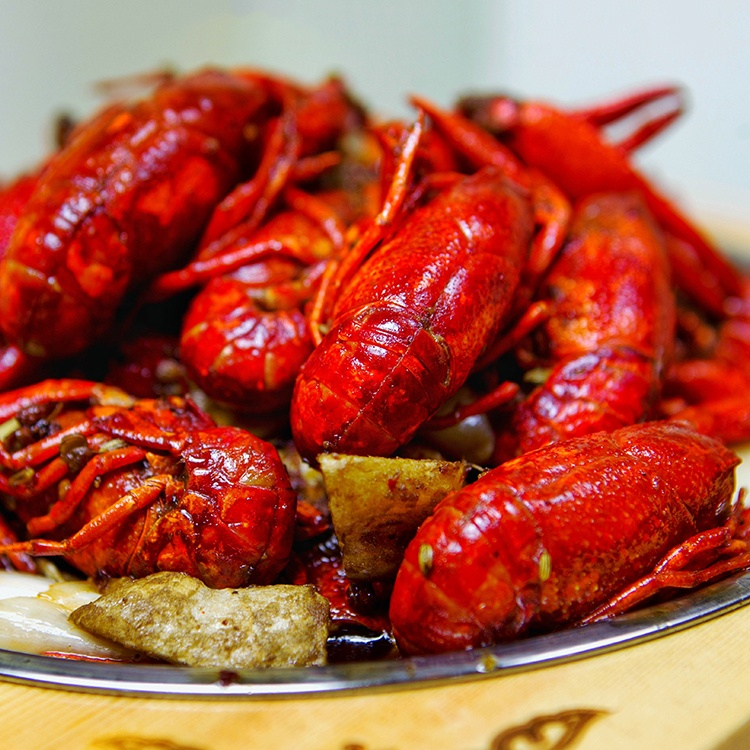 Lobster cooked whole frozen crawfish