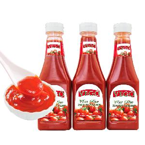 340g tomato ketchup in pladtic bottle for africa market