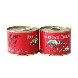 Easy open 70g*50tins/ctn tomato paste