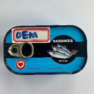 fresh 125g canned sardine in veg oil