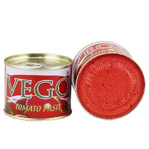 Cute  Size 70g canned tomato paste with yellow ceramic coating inside