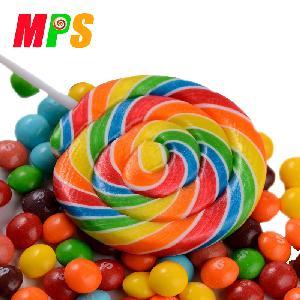 50g Big Lollipop Rainbow Swirl Sweet Candy