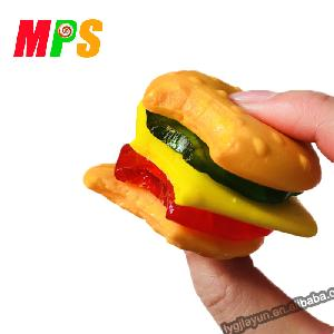 New and Hot Selling Item Individual Packed 50g Hamburger Gummy Candy