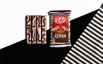 Nestlé debuts marbled dark and white chocolate KitKat Zebra