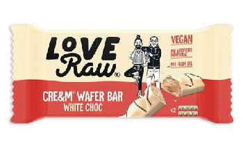 Love Raw launches vegan white chocolate cream wafer bar