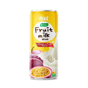 325ml Probiotics Additon Fruit Juice Milk Drink Passion Flavor