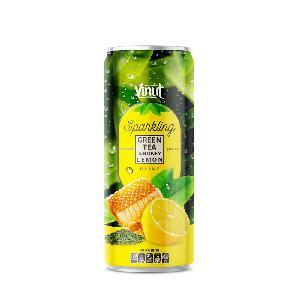 Weight Loss With 250ml Sparkling Drinks Green Tea and Honey Lemon