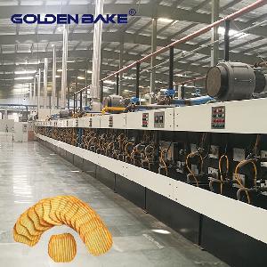 Golden Bake Automatic Wavy Shape Potato Biscuit Production Line