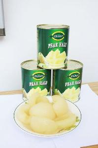 Canned fruit canned pear  halves  in syrup