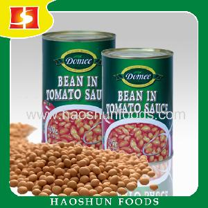 Canned white kidney beans baked beans in tomato sauce canned food