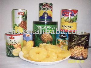 Canned pineapple sliced, canned pineapple, canned fruit