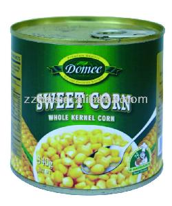 Canned Sweet Corn Hot Sale 340g Easy Open Lid Yellow and Delicious