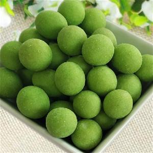 High quality natural snacks foods  household  picnic snack wasabi coated peanuts