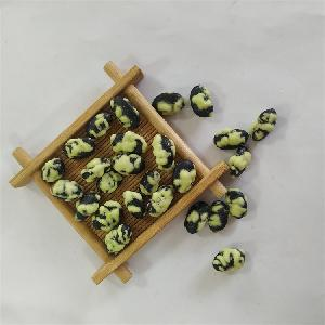 High quality healthy and crispy wasabi flavor mustard coated black beans