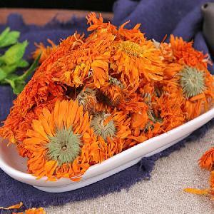 Chinese Dried Herbal Orange Dry Calendula Decoration  Marigold Flower