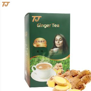 Hot sell 2020 wholesale chinese food drink  herbal ginger  tea   green   tea   instant   powder  for bulk