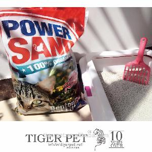 pine wood pellet cat litter / sand