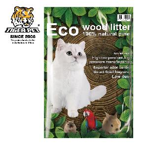 Pine wood cat litter factory pet sand supply activated charcoal cat litter