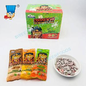Orange Apple Flavors Stone Candy  Chewing   Gum   Confectionery