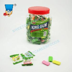 fruit  flavor bubble  gum  cool fresh mint crispy  xylitol  chewing  gum