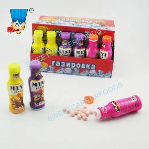mini cola bottle with fruit flavor candy toy sweets