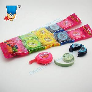 Crazy Roll Fruit Flavor Colorful Long Chewing Gum