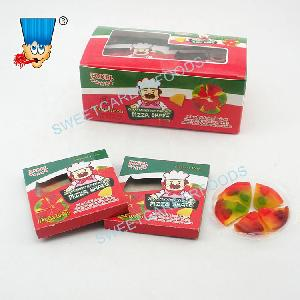 individual pack fruit flavor 5 pieces pizza gummy soft candy
