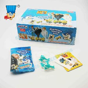 shark  gummy   candy  with toy cards