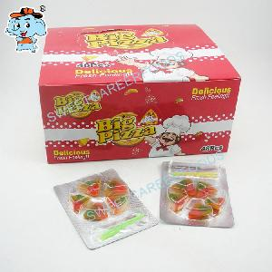 fruit flavor 5 pieces pizza gummy candy sweets