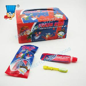 Fruity Toothpaste Jam Gel LIquid Sweet With Toothbrush Candy Toy