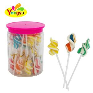 Halal Lollipop Mix Colors Fruity Flavors Twist Swirl Lollipop Candy