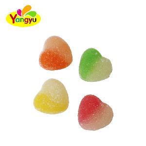 Double Color Custom Heart Shape Gummy Candy OEM