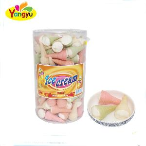 Packed Jar Ice cream Strawberry Jelly filled marshmallow