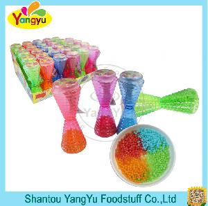 colorful hard cand pack in funny funnel bottle