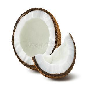husked semi coconut pure