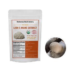 100% Pure Natural Organic Lion's Mane Mushroom Extract Powder