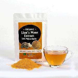 Organic Herbal Supplement Hericium Erinaceus Mushroom Extract Lion's Mane 10:1  Extract Powder