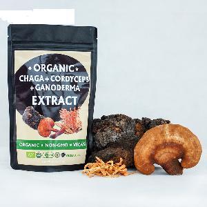 Organic Customized Blended Mushroom Extract Lions Mane Cordyceps Militaris Chaga Lucidum Ganoderma