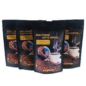 Private label power coffee for Men  4 in 1 tongkat ali maca extract Latte free sample