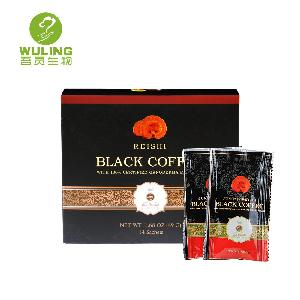 man health herbs beta glucan polysaccharides ganoderma powder extract instant black coffee drink