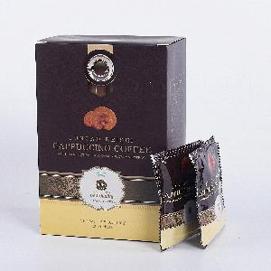 bulk instant coffee powder china ganoderma coffee organico Cappuccino 4 in 1 mushroom instant coffee