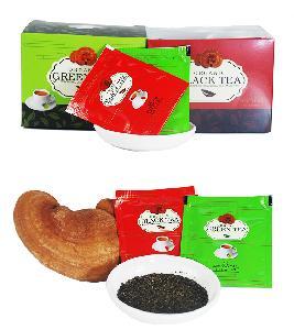 OEM usda organic reishi mushroom green tea bags relieve stress boost full energy