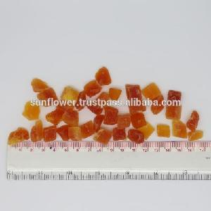 Thai Dehydrated Papaya Dice 8-10mm Natural Red Color Premium Quality
