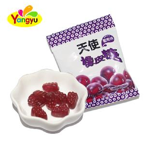 Wholesale Fast Food Halal Fruity Grape Flavors Gummy Chewy Candy