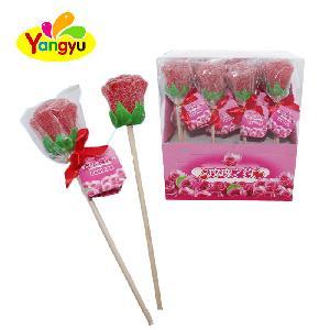 Valentine Love Rose Gummy Lolilop Fruit Sweet Wholesale Candy
